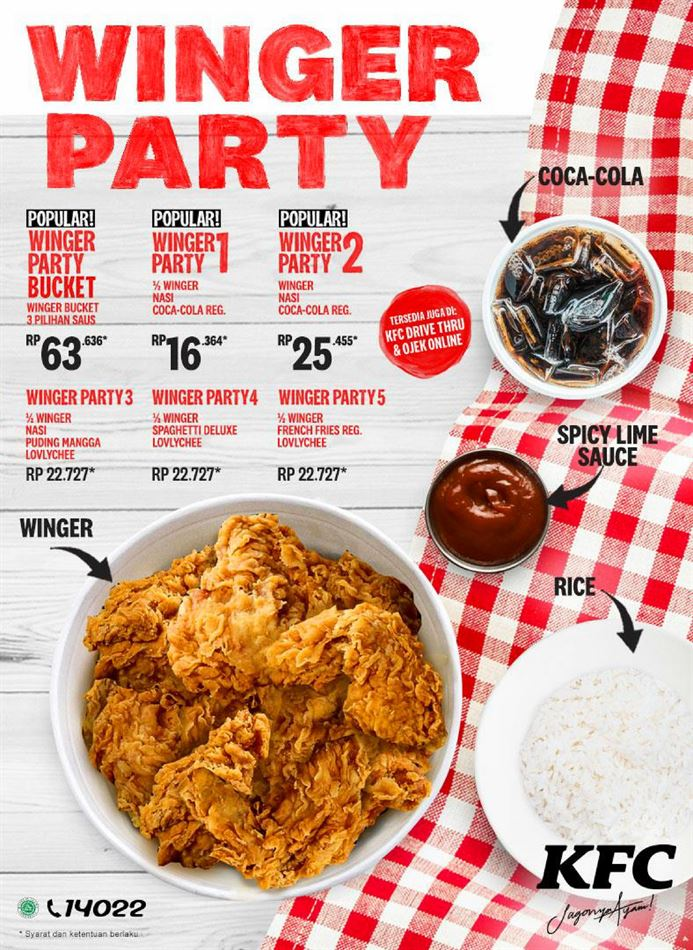 Promo KFC : KFC Winger Party Hari Ini 23 April 2020 ...