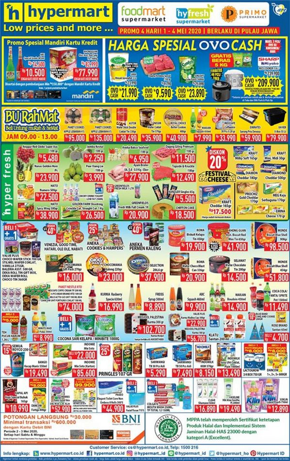 Promo Hypermart Katalog Hypermart Hari Ini 3 Mei 2020 Promo Produk